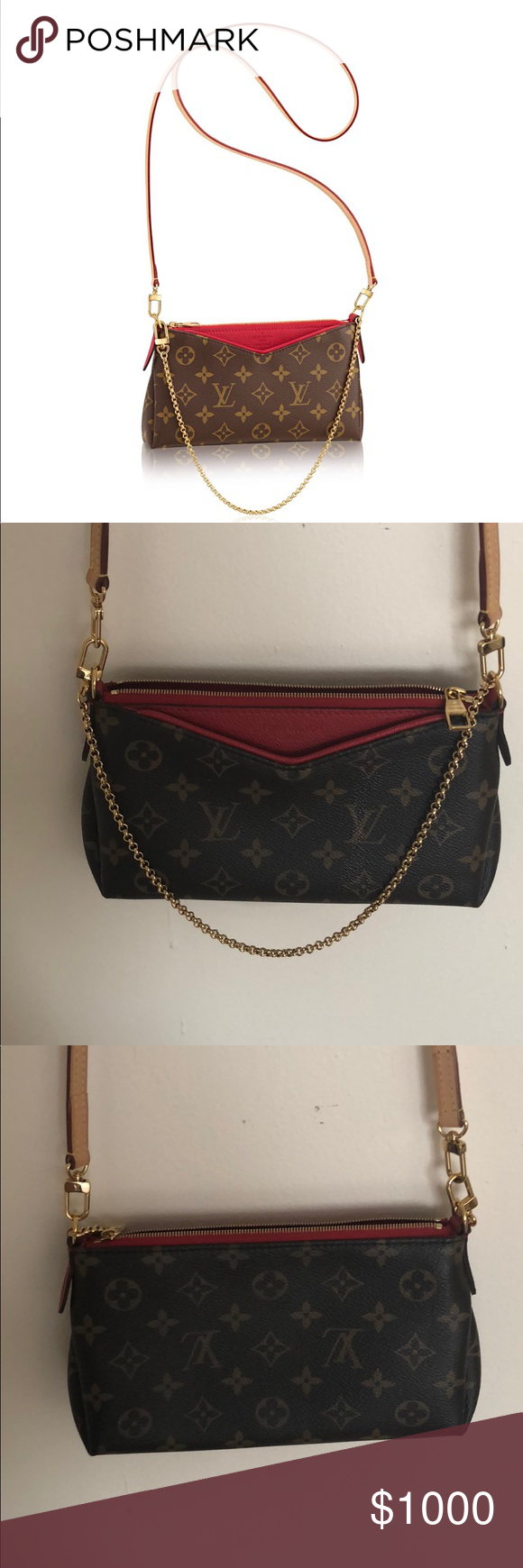 2f14a920d Louis Vuitton- PALLAS CLUTCH Beautiful, AUTHENTIC and currently Out of  Stock Monogram canvas cross