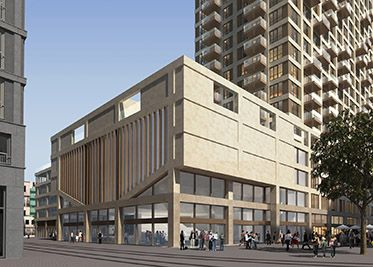 Nieuw wijnhaven kwartier. Op de 5de tot en met de 19de verdieping worden 164 appartementen gerealiseerd. Daarboven komen nog eens zes royale penthouses. Op de 2de tot en met de 4de verdieping is plaats voor de nieuwe Campus Den Haag van de Universiteit Leiden. De entree daarvan is op de begane grond. Aan de Turfmarkt en in de nieuwe straat is in totaal zo'n 1.300 m² beschikbaar voor winkels en horeca. Dat zorgt voor de sfeer op straat.