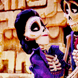 Pixarcoco: Imelda while looking at Hector and Coco #Imelda #looking #Hector