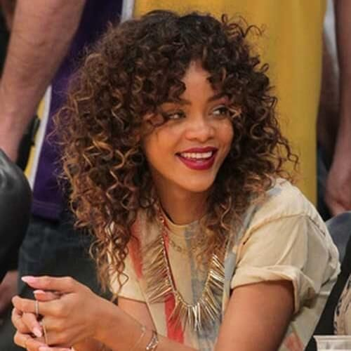 Very Curly Hair And Bangs On Both Sides Hair When I Go To The