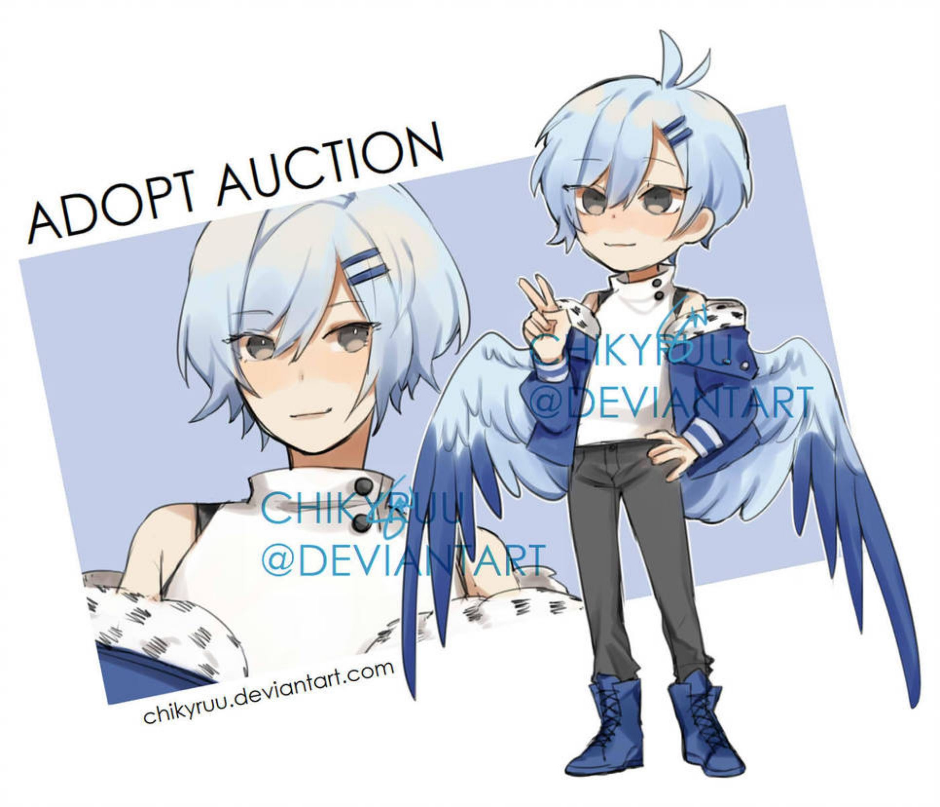 Auction Closed By Chikyruu On Deviantart Auction Character Design Chibi