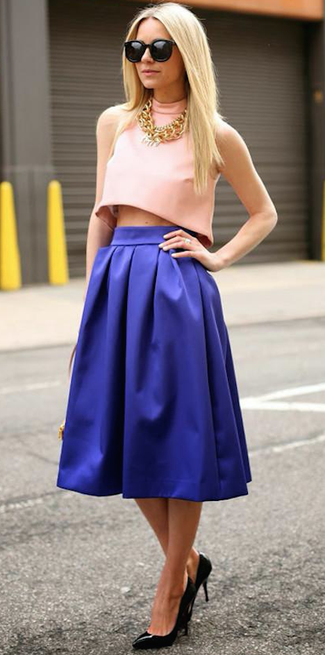 95aa9b6a5 Ideas para combinar faldas lady estilo años 50 para un look muy ...