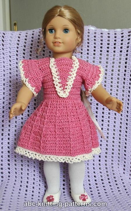 ABC Knitting Patterns - American Girl Doll Crochet Summer Dress ...