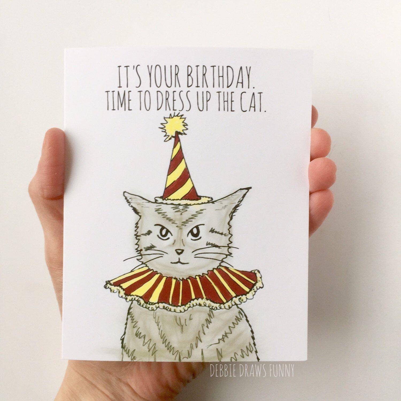 Cat Lady Birthday Card Funny Birthday Card Cat Birthday Etsy Cat Birthday Cards Funny Cat Birthday Card Funny Birthday Cards
