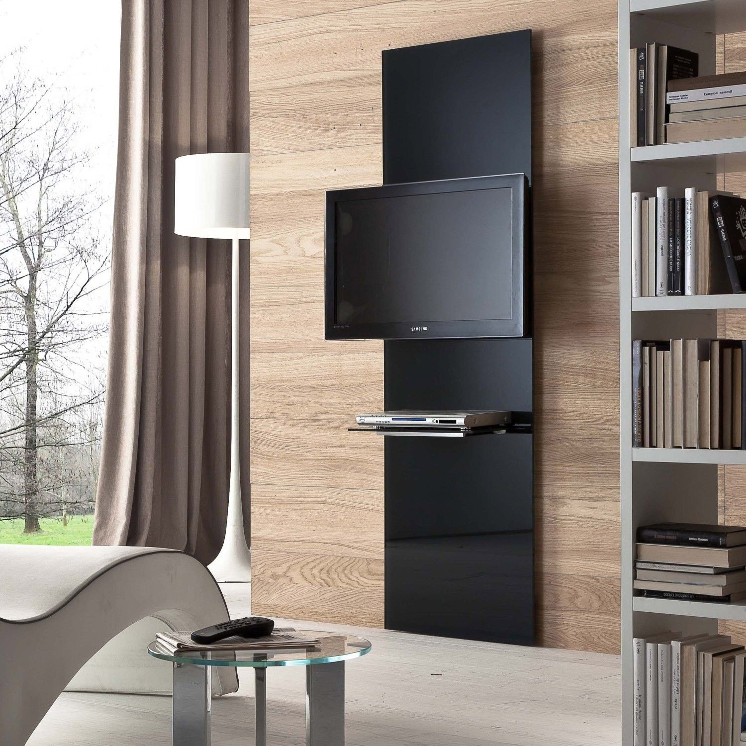 show tv m bel mit wandhalterung arredaclick design. Black Bedroom Furniture Sets. Home Design Ideas