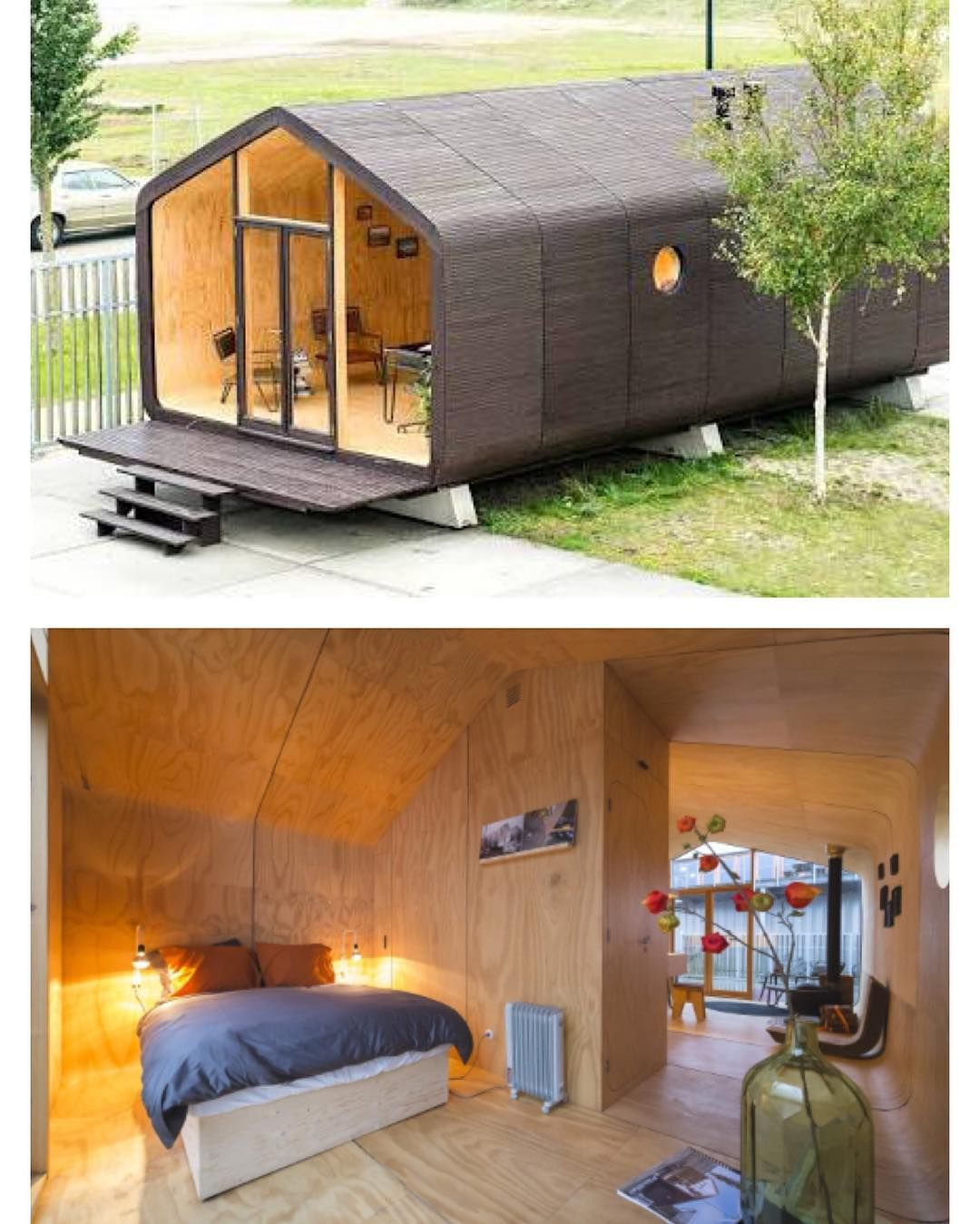 a special little house made out of cardboard sustainably built