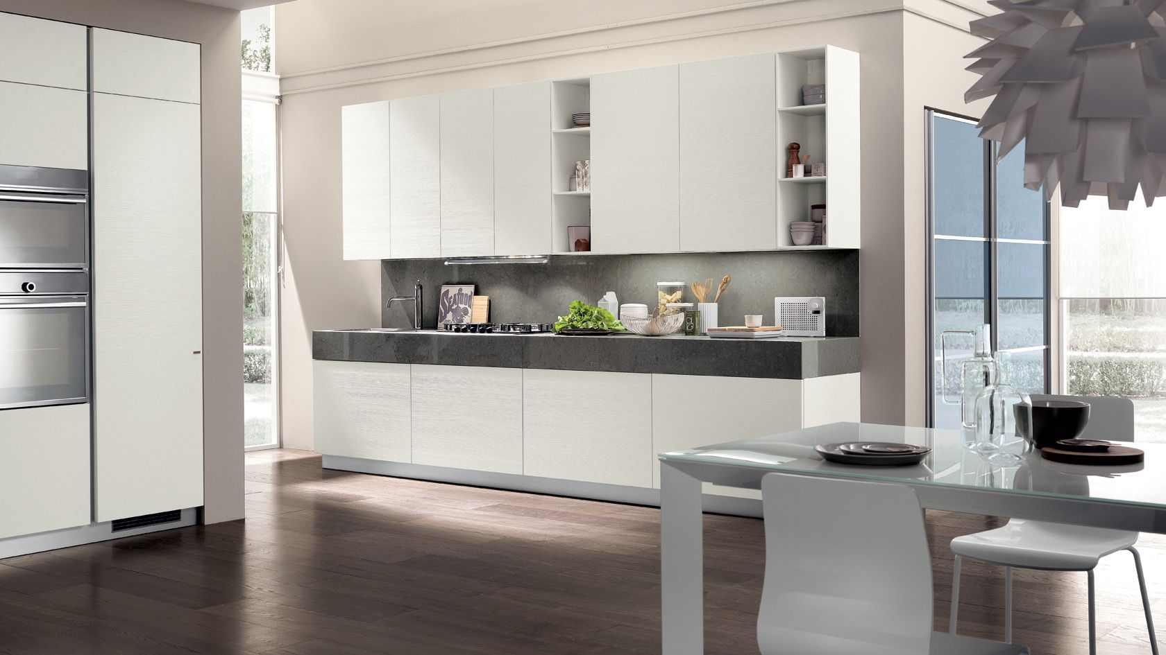 scavolini kitchen liberamente - close, we like the open shelves, Hause ideen