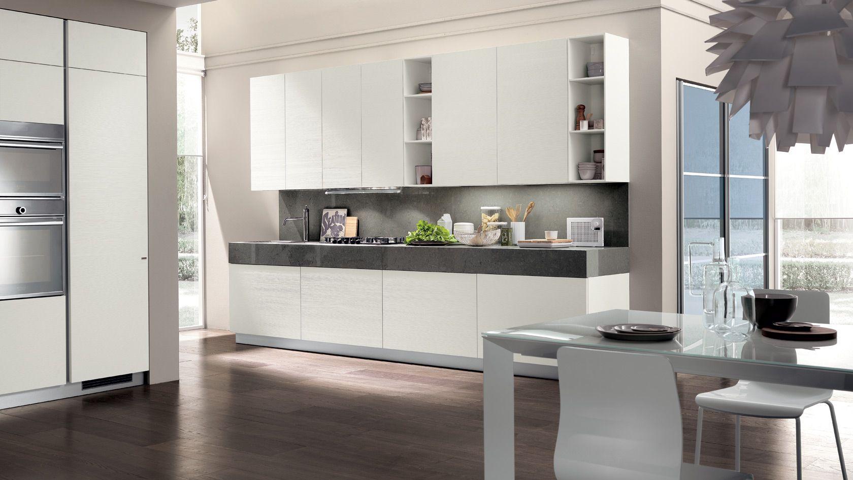 Scavolini kitchen LiberaMente - close, we like the open shelves ...