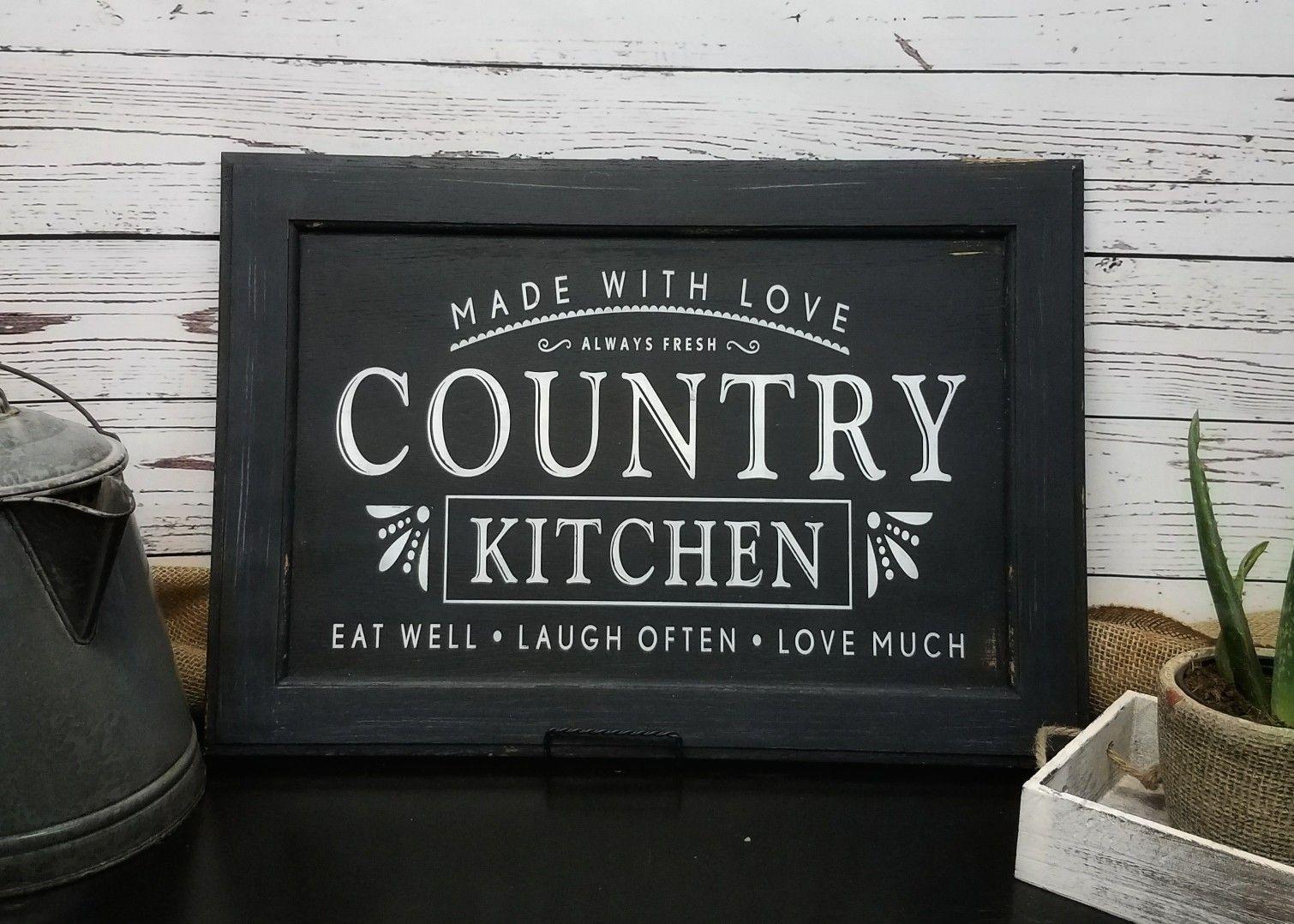 Country Kitchen Farmhouse Kitchen Decor Farmhouse Decor Wooden Kitchen Signs Farmhouse Kitchen Signs Butcher Block Island Kitchen Wooden Kitchen Signs