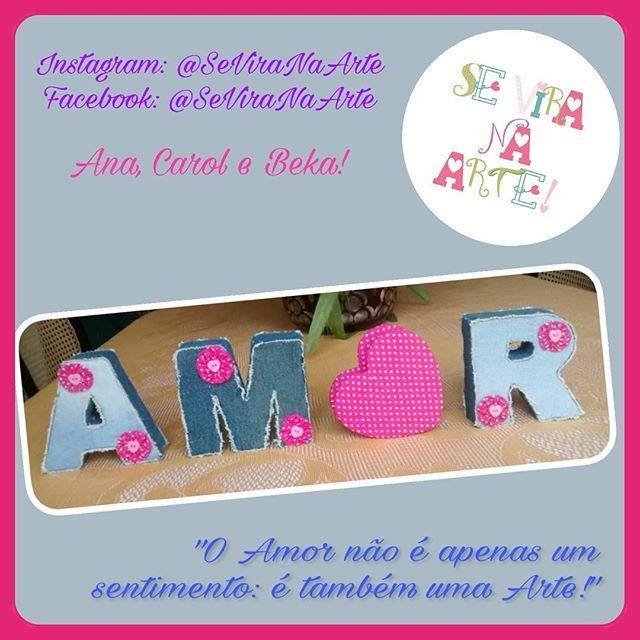 Um Amor Para Decorar! #SeViraNaArte #MaisAmorPorFavor #Letras3D #Letras #Decoração #Amor #Arte #Artesanato #AmorÉArte #Reciclagem #Jeans #Papelão