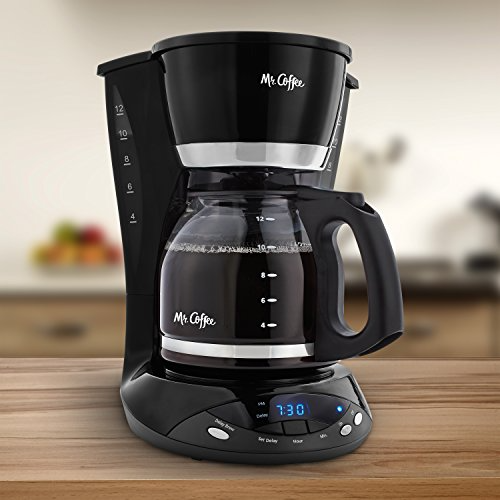 Mr. Coffee DWX23RB 12Cup Programmable Coffeemaker, Black