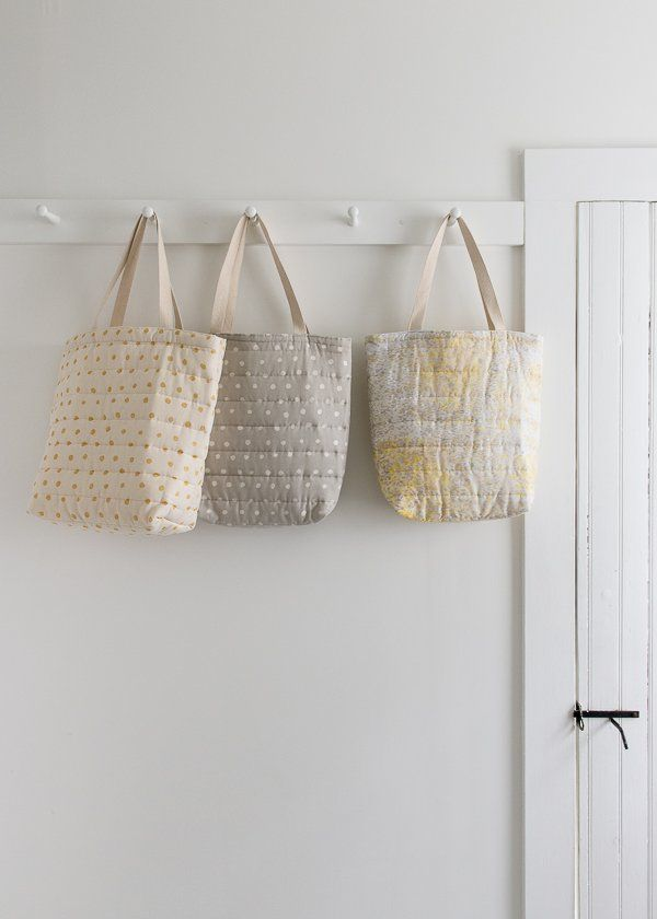 Puffy Tote in Nani Iro\'s Quilted Double Gauze | Bosses | Pinterest ...