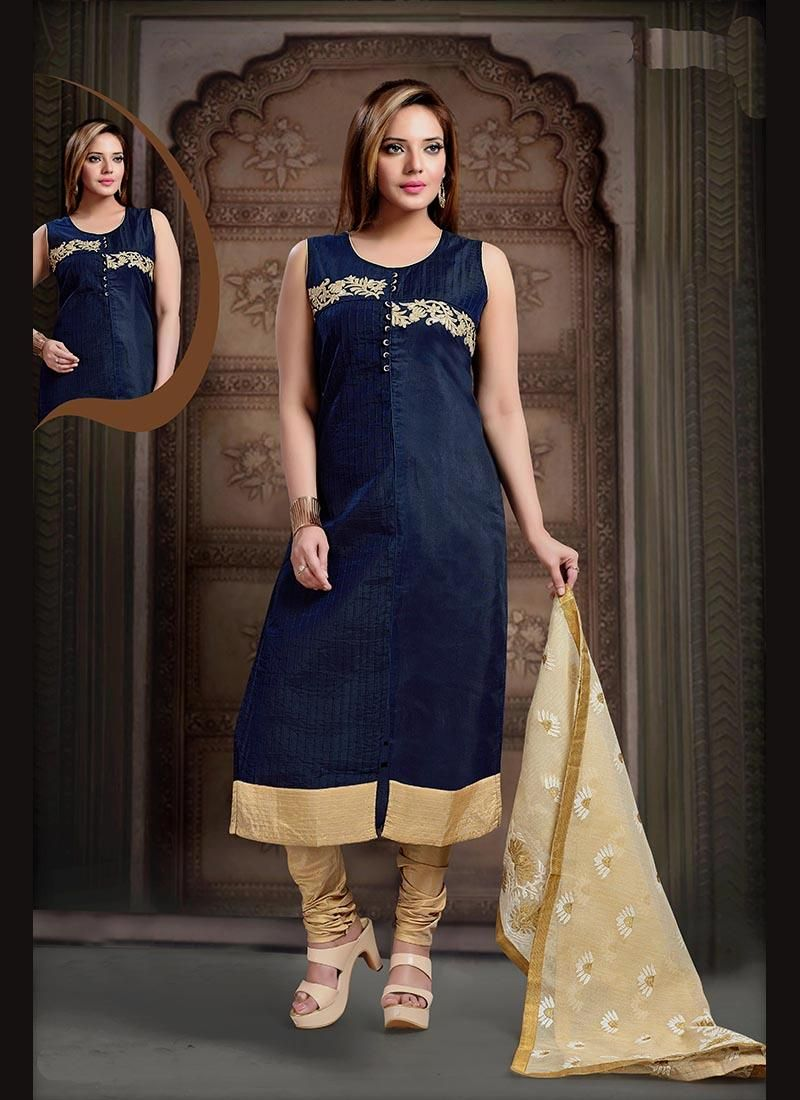 Shop online stylish beautiful salwar suits. Order this art silk ...