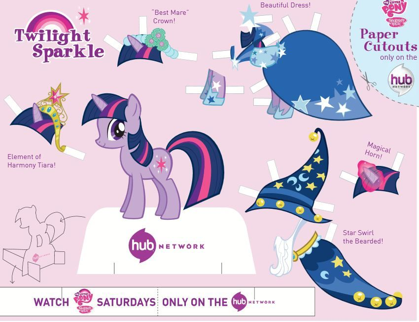My Little Pony Friendship Is Magic Twilight Sparkle Cutout My