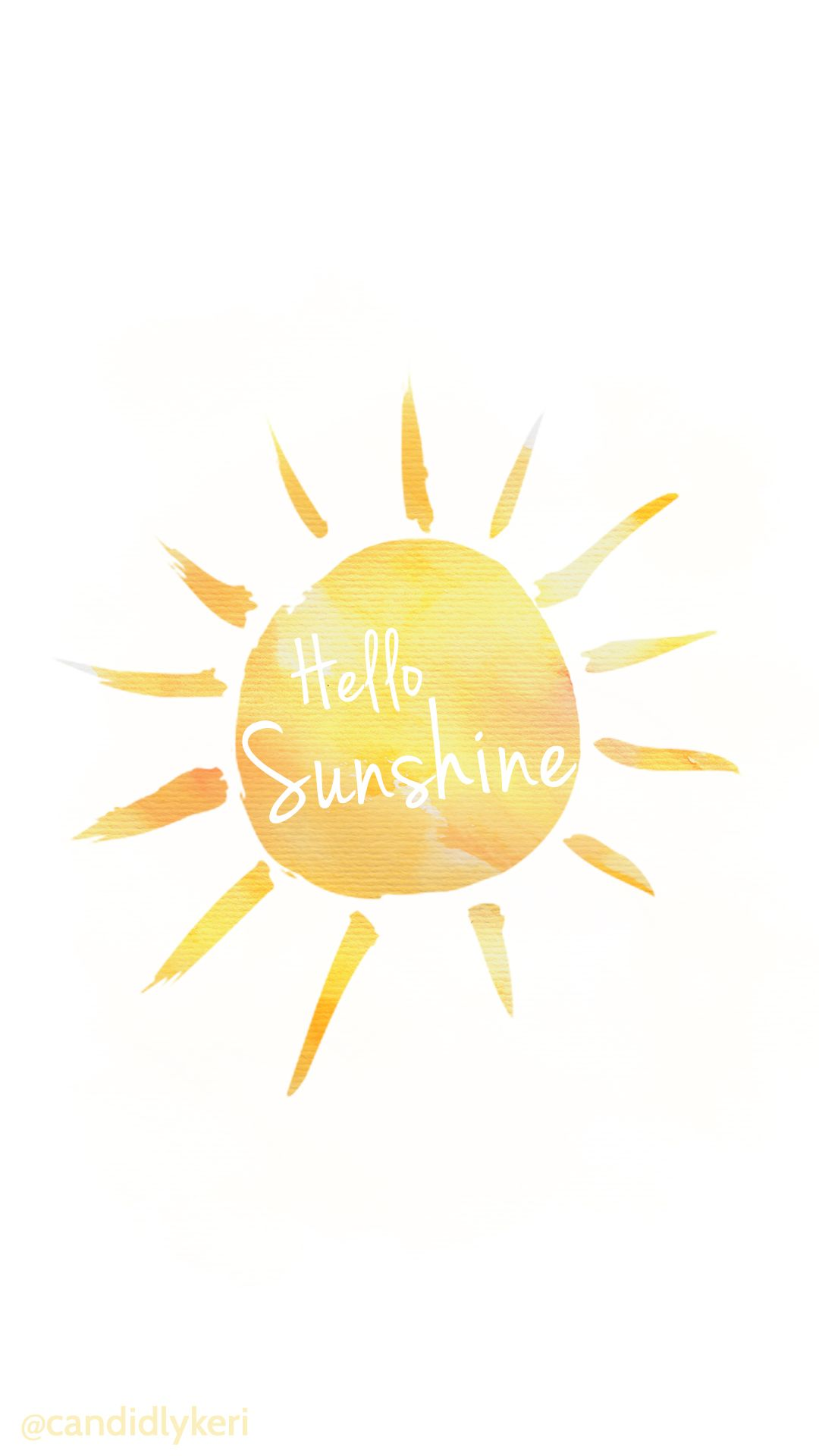 Hello Sunshine Yellow Watercolor Background Wallpaper You Can