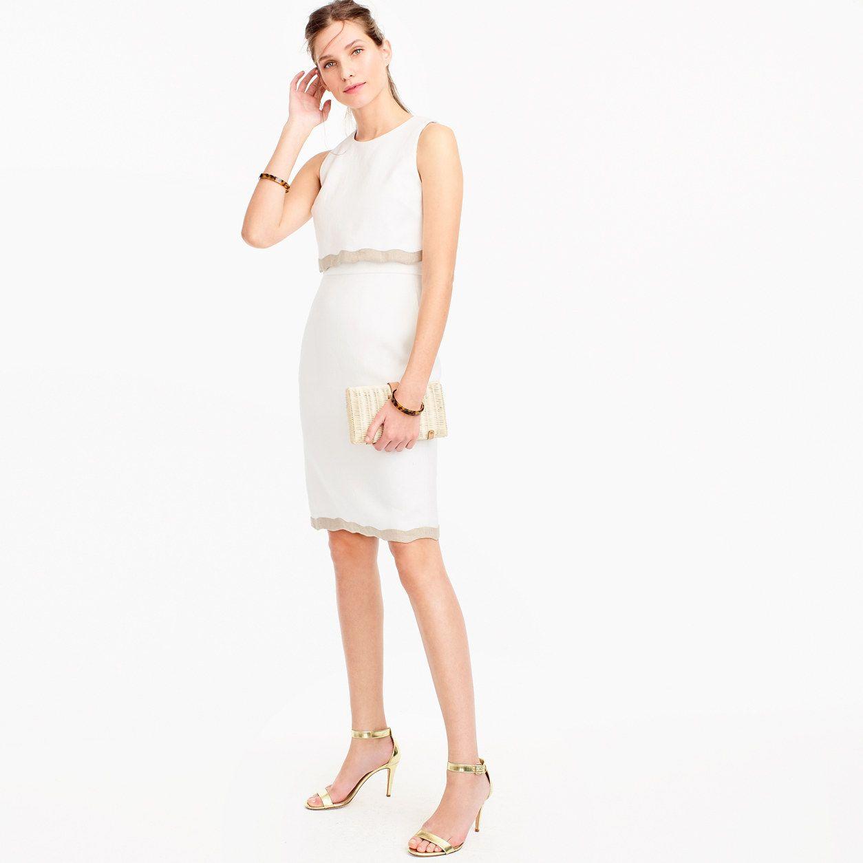 J Crew Womens Petite Going Places Dress In Linen Size 00 Petite