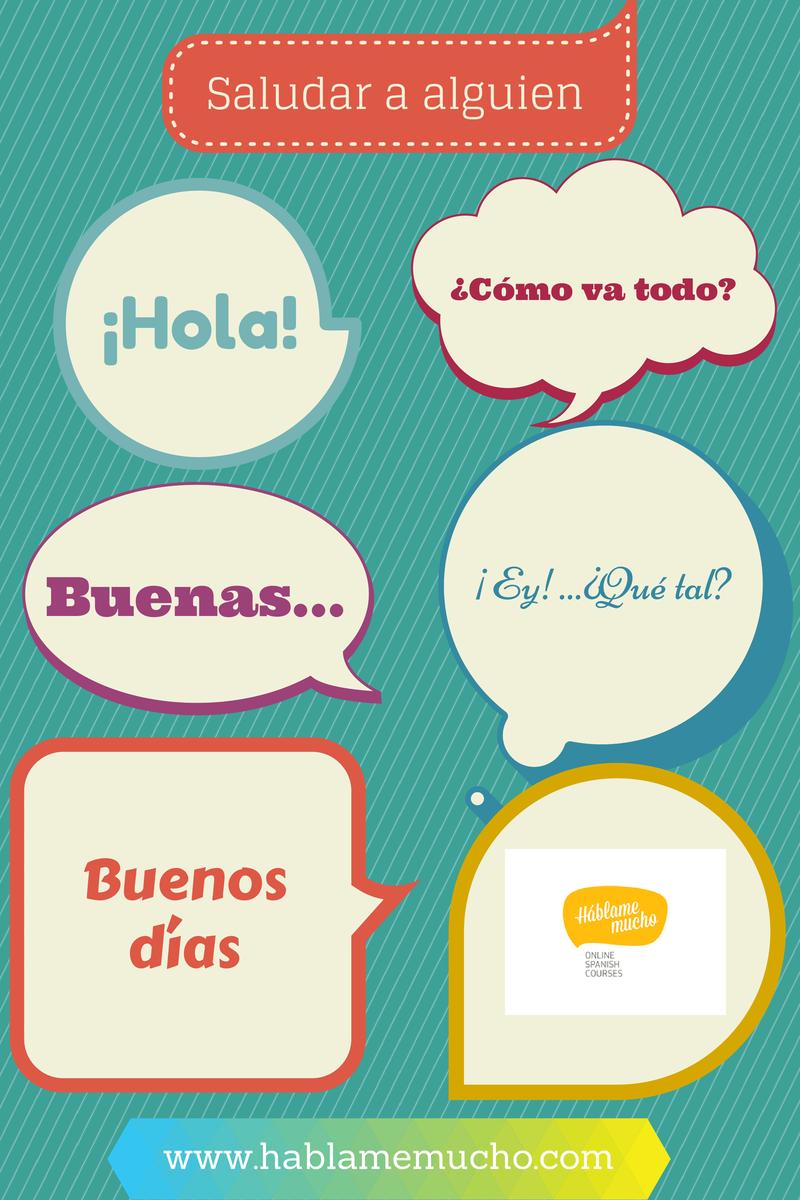 ¿Cuáles son las primeras palabras que has aprendido en español? Saludar y despedirse son acciones muy importantes en todas las culturas, ¿cuántas formas de saludar conoces en español? ¿y de despedirte? Háblame mucho te da algunas ideas. Puedes comentarlas o añadir otras en el blog o en nuestra página de Facebook.