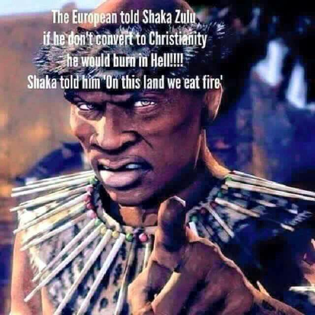 Quote From The Legendary Warrior King Shaka Zulu.