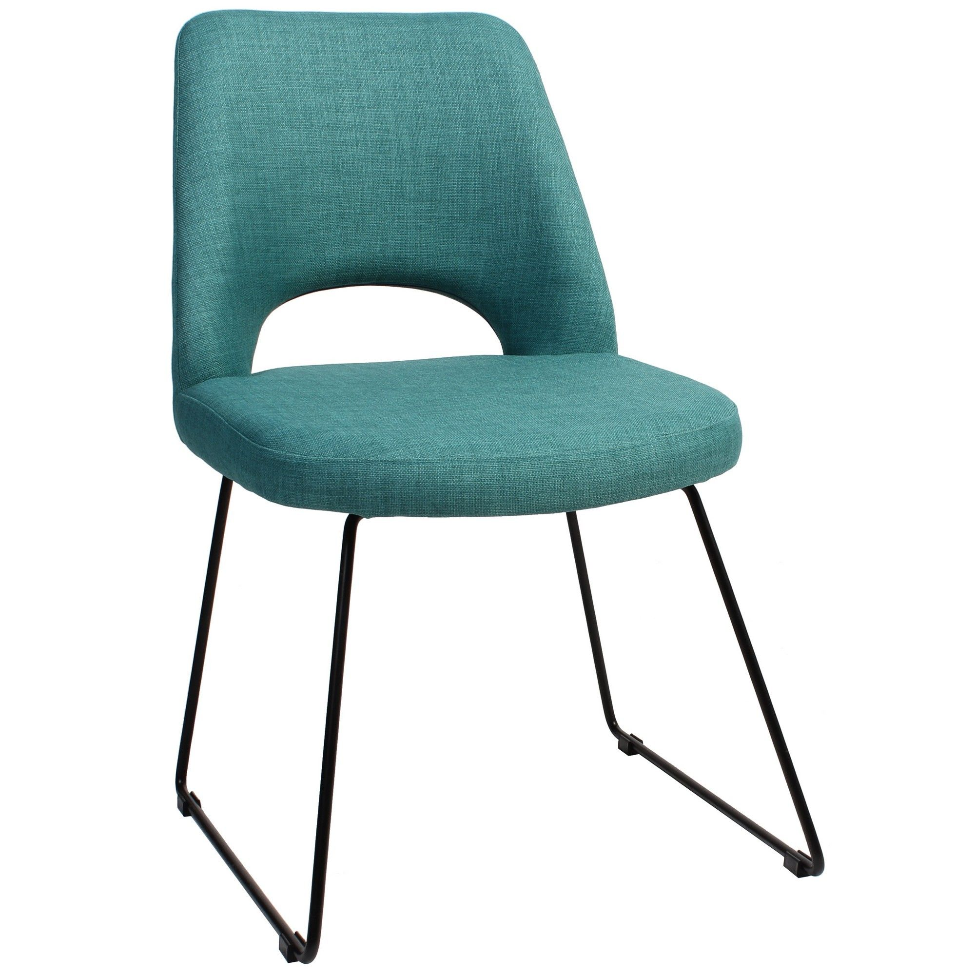 Albury Commercial Grade Fabric Dining Chair, Metal Sled