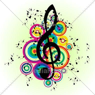 colorful music notes symbols musical notes background image rh pinterest com Single Music Notes Vector Colorful Music Notes