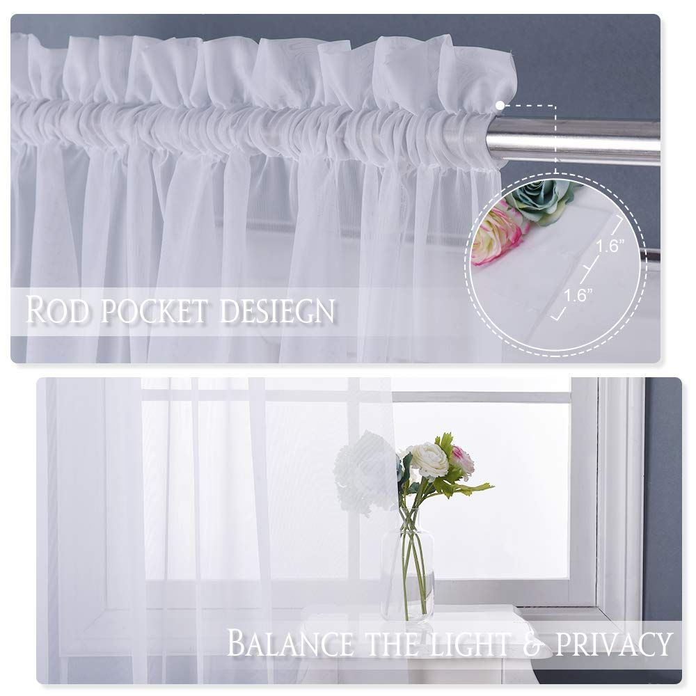 Nicetown White 60 Inch Wide 63 Inch Long Light Weight Privacy