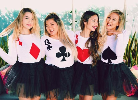 The ULTIMATE COLLEGE HALLOWEEN COSTUMES FOR 2020 & 2021, Poker Girls