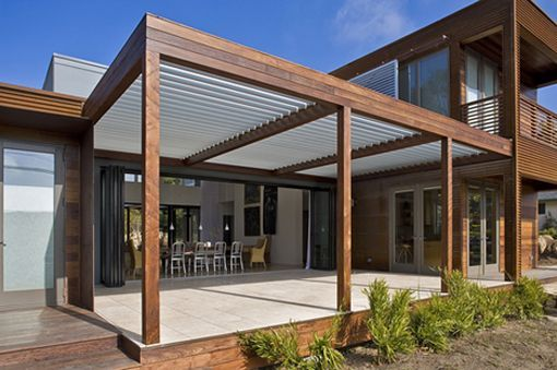 Maybe A Modern Pergola For Me Extension Patios Modern