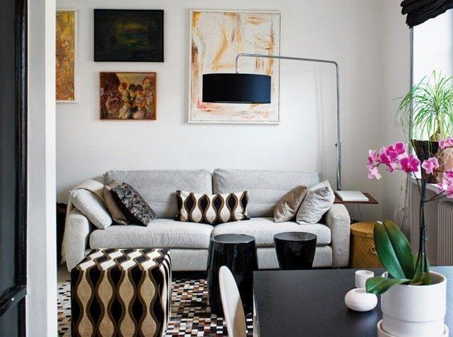petits salons et grandes id es salon scandinave orchid e rose et salon. Black Bedroom Furniture Sets. Home Design Ideas
