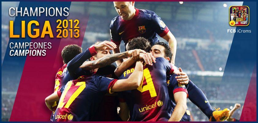 El FCB se proclama campeón de Liga 2012 - 2013
