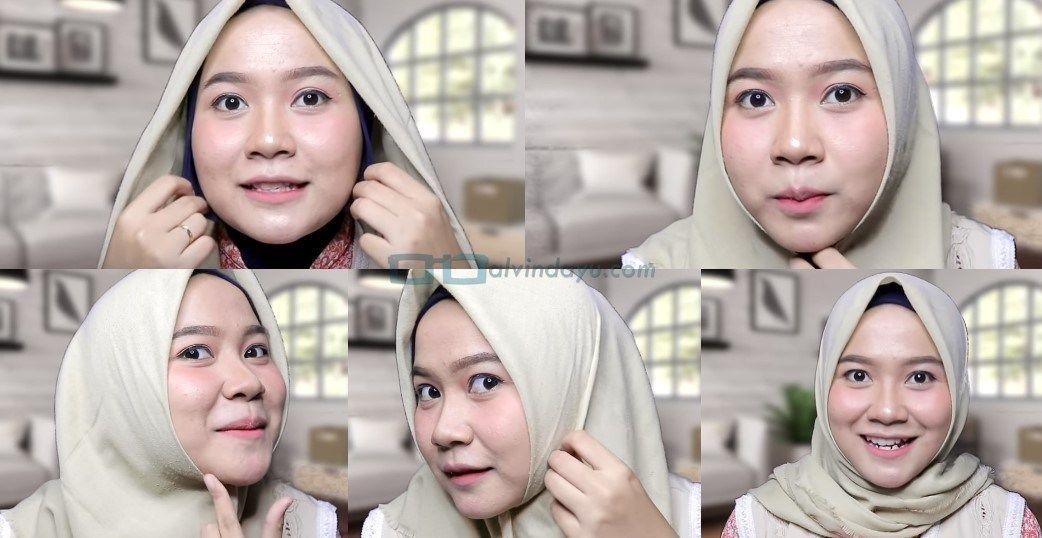 Tutorial Hijab Segi Empat Wajah Bulat Edukasi Lif Co Id