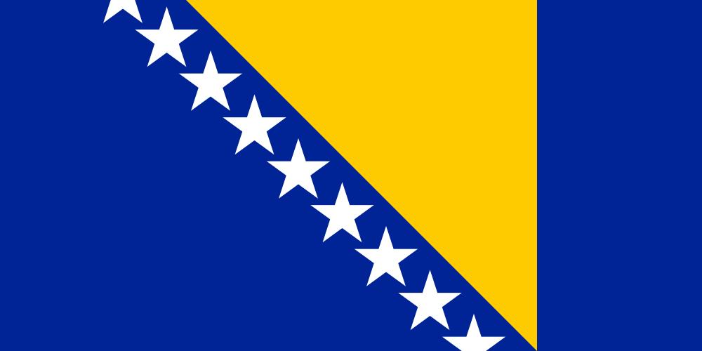 Bosnia And Herzegovina Europe Herzegovina Flag Bosnian Flag Flags Of The World