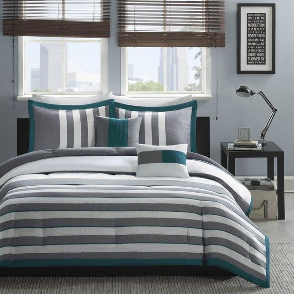For an easy update to your space, the Anthony Comforter Set uses