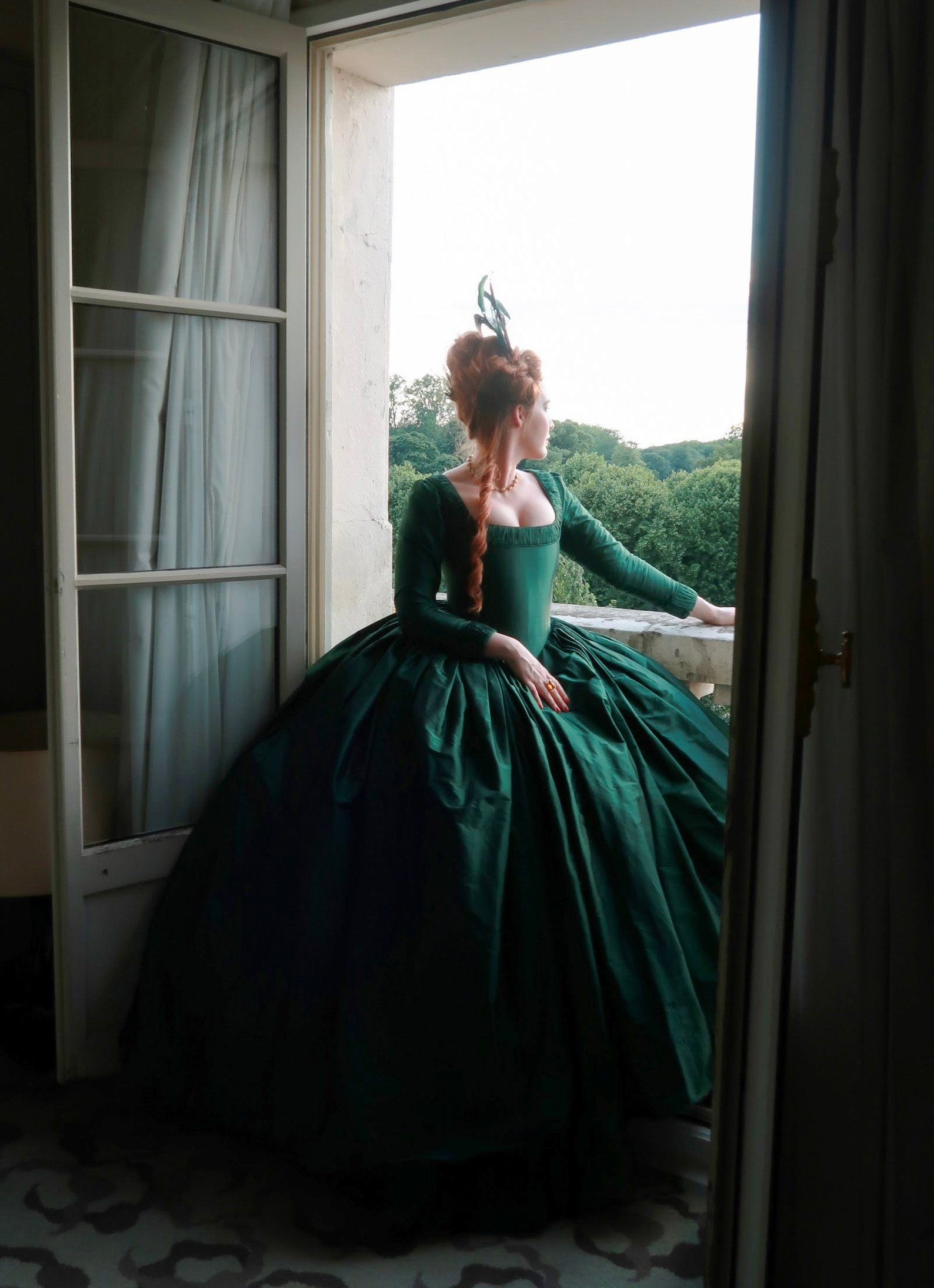 Maria Antonietta Rococo Baroque Victorian Vacation Dress Dress Party Costume Prom Dress Women S Satin Costume Dark Green Vintage Cosplay Party Halloween Party Pakaian Abad Pertengahan Gaun Abad Pertengahan Gaya Model [ 1000 x 1000 Pixel ]