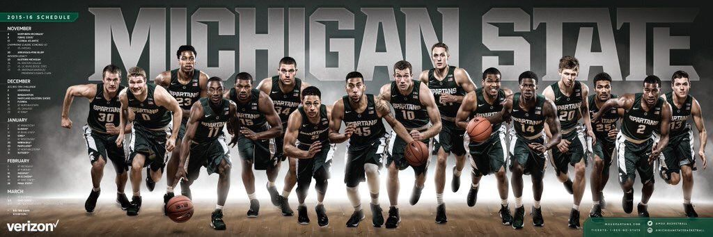 michigan state spartans basketball posters