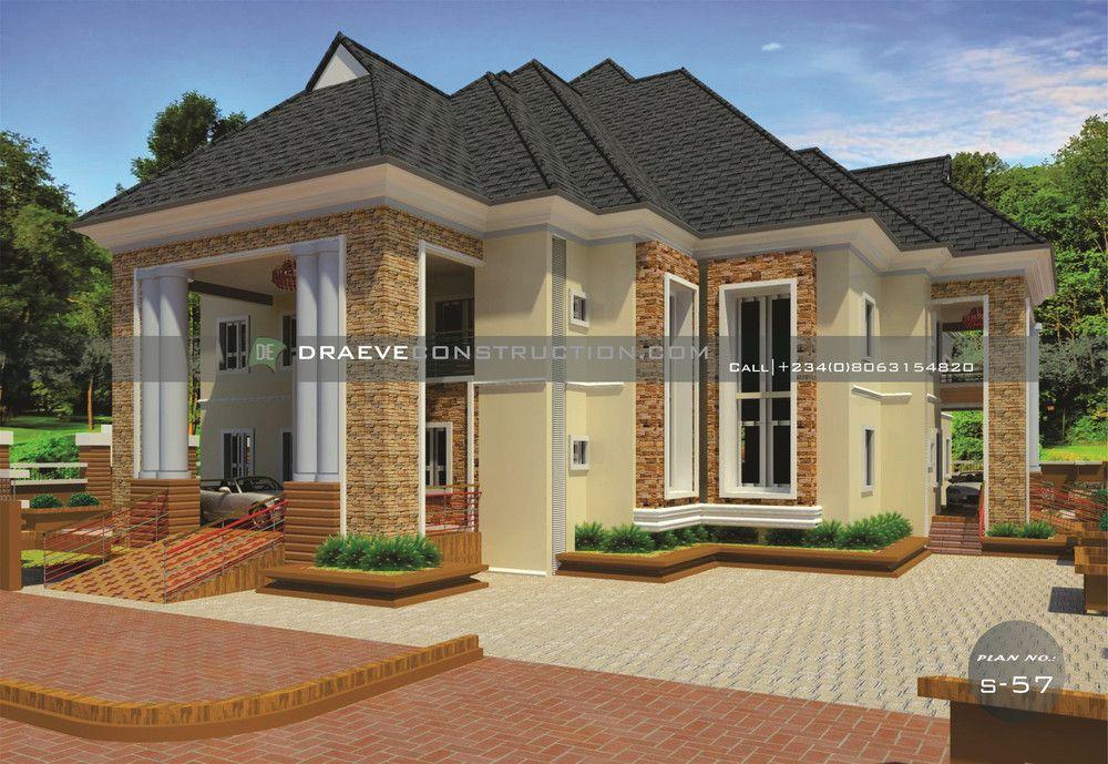4 Bedroom Bungalow Rf 4007 Bungalow Design Modern Bungalow House Plans Bungalow House Design