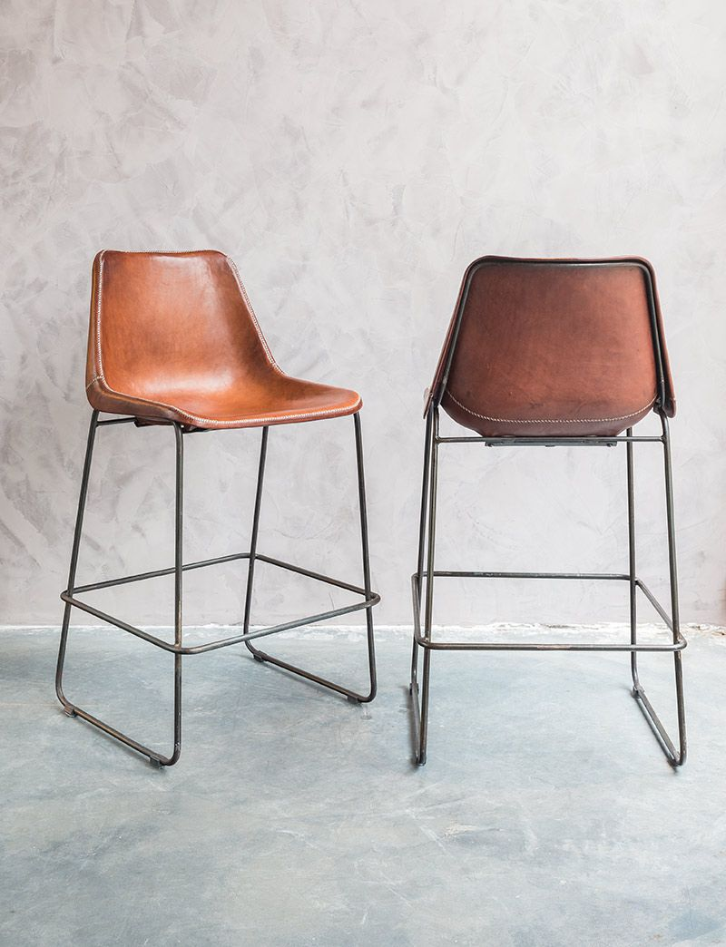 Design Leather Bar Stools Sol Y Luna