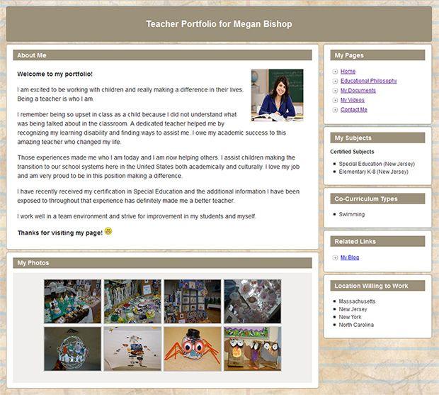 Create Your Free Teacher Portfolio Webpage Portfoliogen Is
