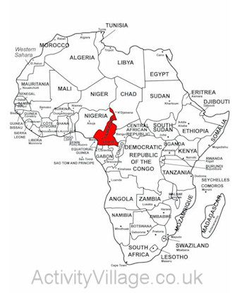 Map Of Africa Cameroon.Cameroon On Map Of Africa In 2019 Africa Map South Africa