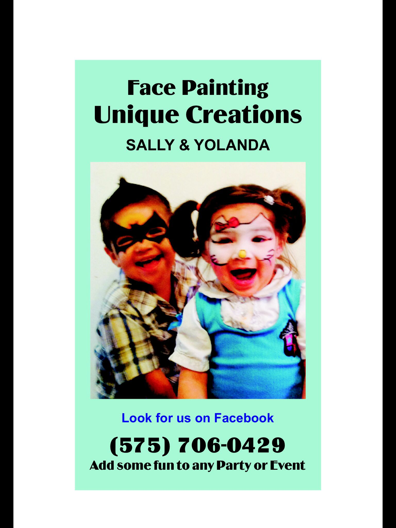 Our face painting business card 2014 face painting pinterest our face painting business card 2014 magicingreecefo Gallery