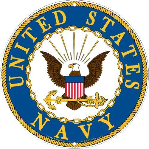 navy military logo aluminum sign us service branch metal home wall rh pinterest co uk military logo maker military logo vector