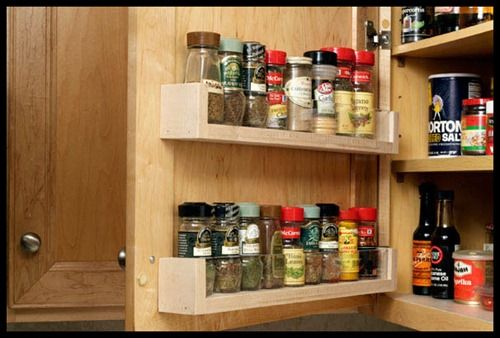 Diy Spice Rack Inside The Cabinets Door For The Home Pinterest