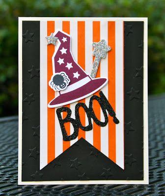 Krystal's Cards: Stampin' Up! Howl-o-ween Treat Boo! #stampinup #krystals_cards #howloweentreat #halloweencard #handstamped #papercrafts #cardmaking #bootoyou