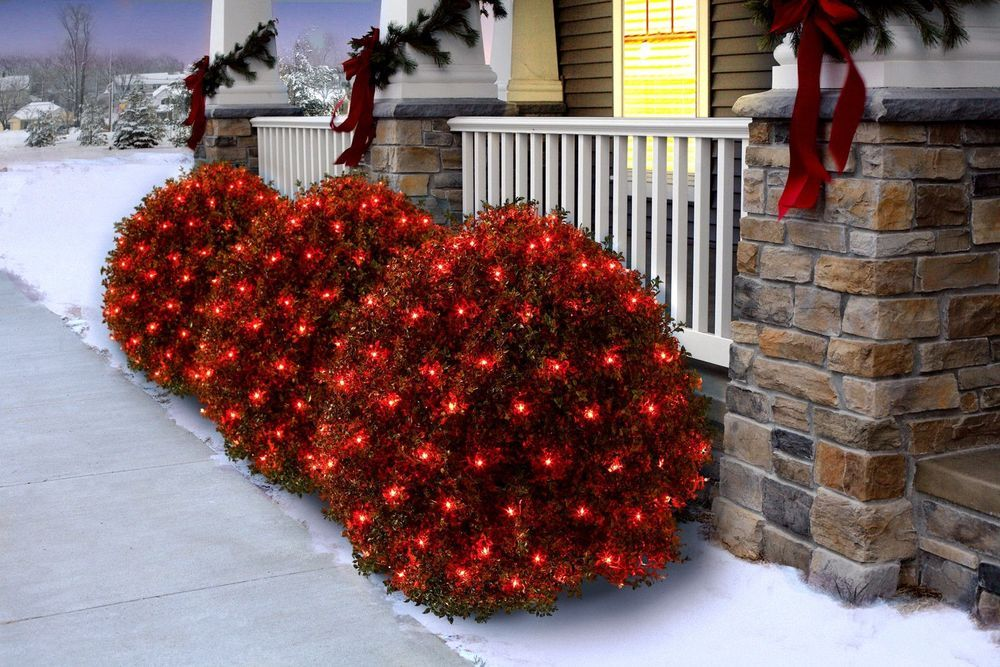 Outdoor holiday christmas net light set red wire blue bulbs 150 outdoor holiday christmas net light set red wire blue bulbs 150 count yard new mozeypictures Gallery