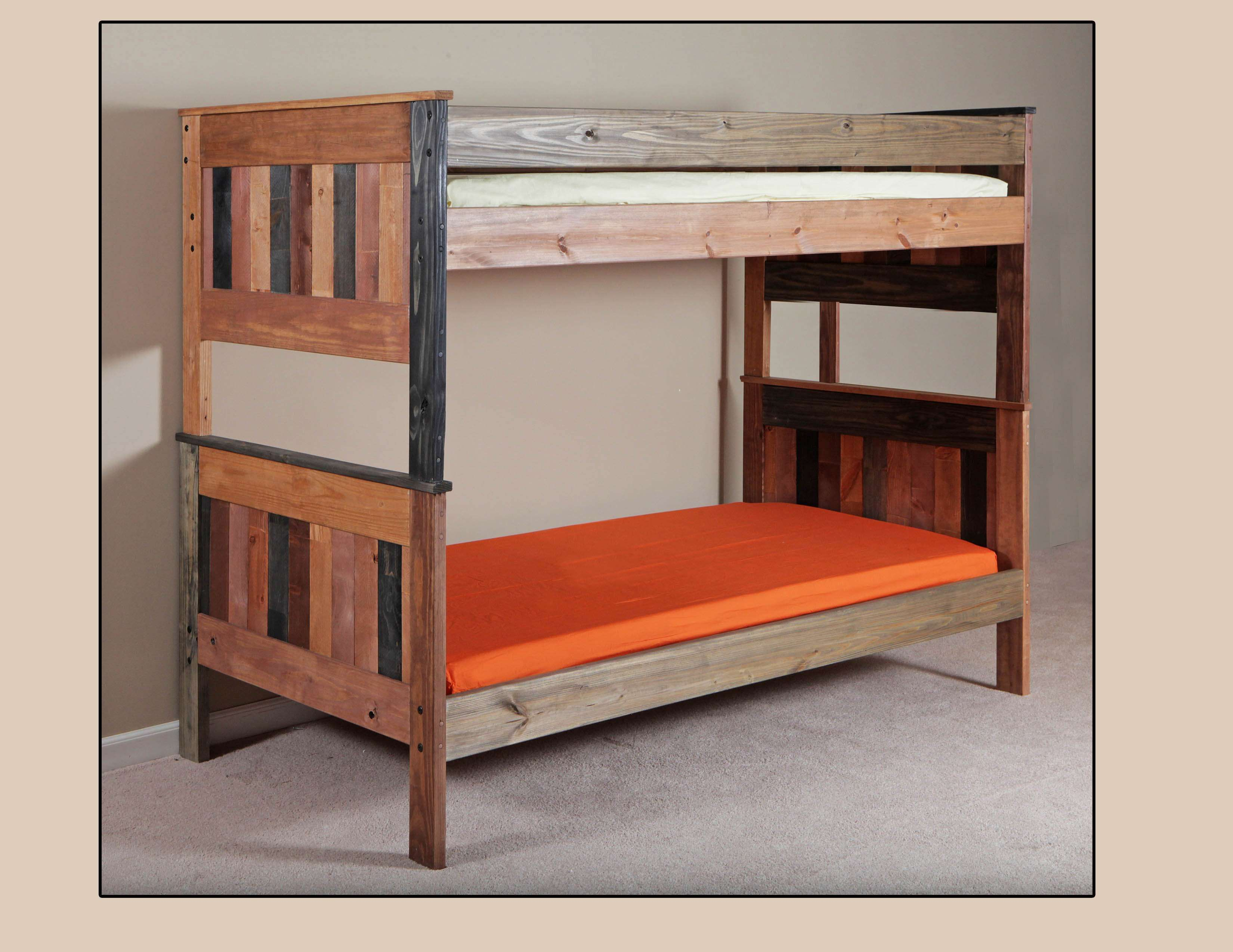 Lowest Price On Chelsea Home Multi Color Twin Over Twin Stackable