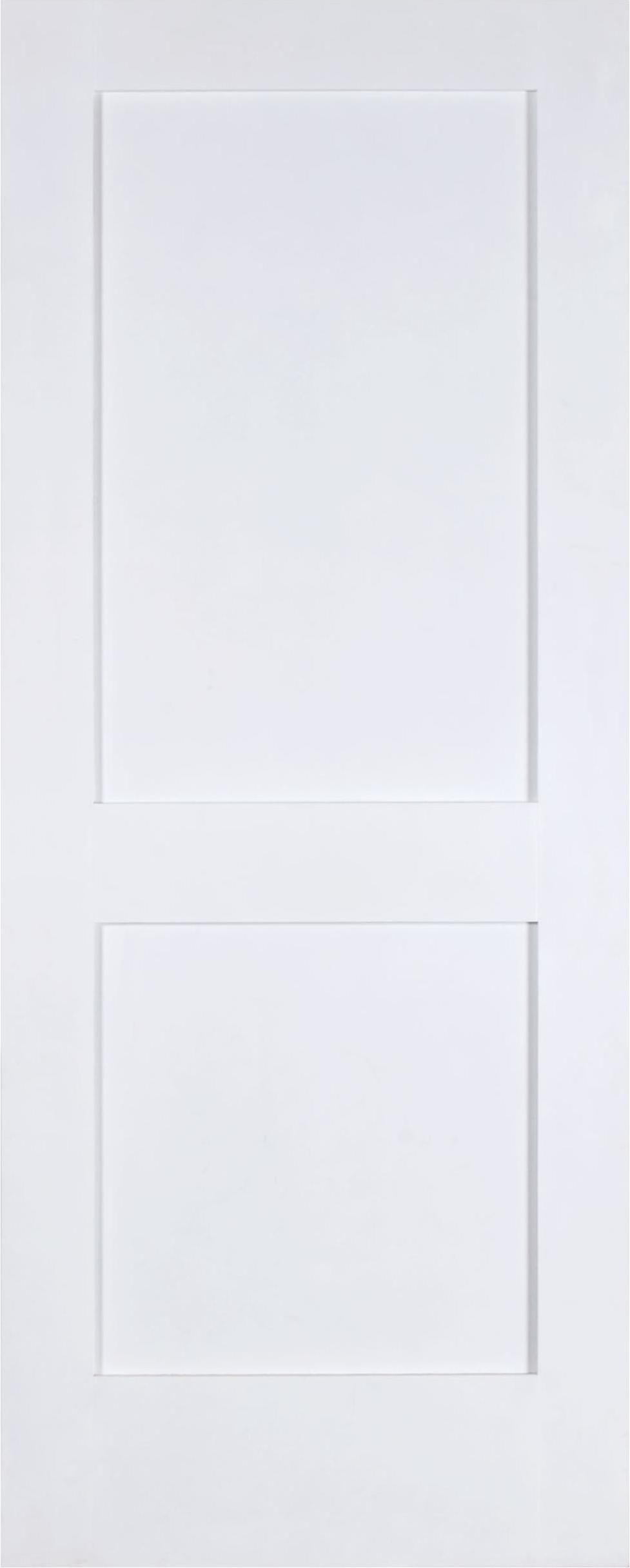 2 panel shaker square top primed el-sh782 | interior solid primed