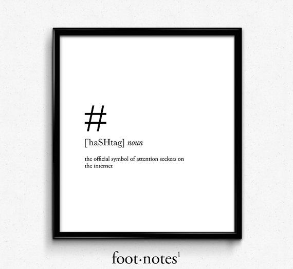 Hashtag definition hashtag sign college dorm by footnotestudios