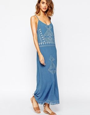 BA&SH Luss Maxi Dress in Cheesecloth