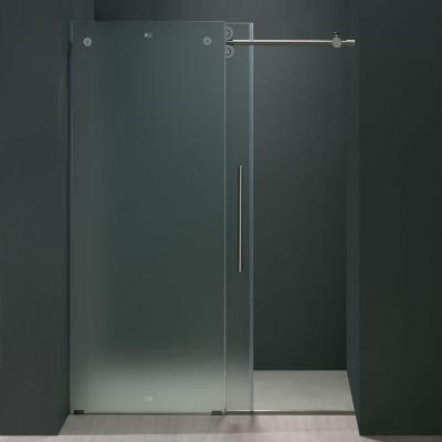 Vigo 72 In X 74 In Frameless Bypass Shower Door In Chrome With
