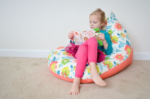 Diy Sew A Kids Bean Bag Chair In 30 Minutes Diy Pinterest