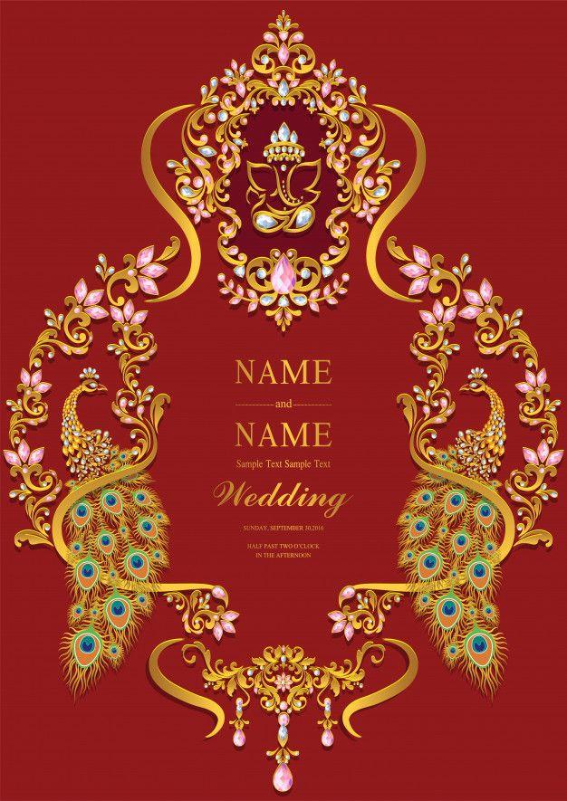 Wedding Invitation Card Templates. in 2020 Wedding